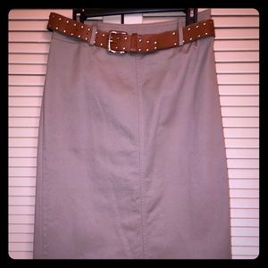 St. John's Bay Khaki Color Skirt in Twill 10P